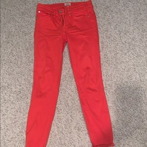 Jcrew coral jeans size 25